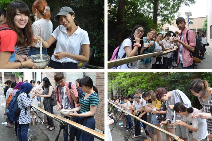 7月11日にアジアからの短期留学生と共に行った学内リハーサル