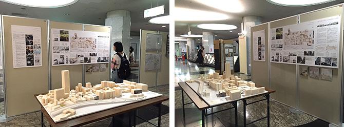 建築作品展の様子